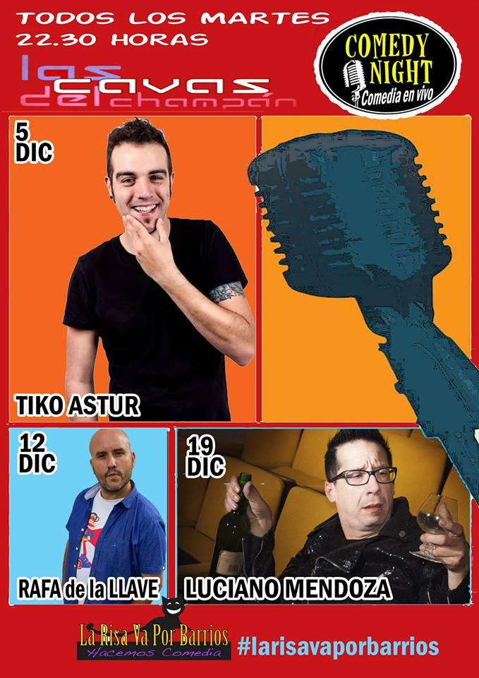 Las Cavas del Champán Comedy Night Diciembre 2017