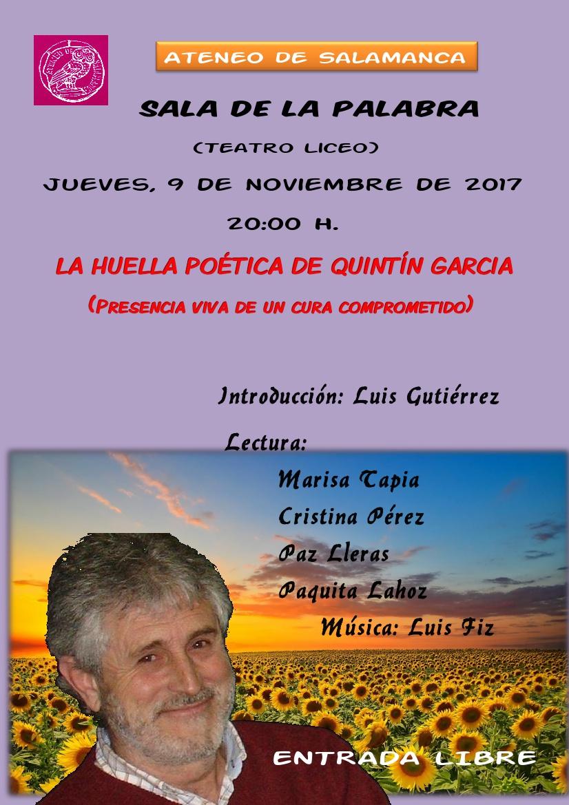 Teatro Liceo La huella poética de Quintín García Ateneo de Salamanca Noviembre 2017