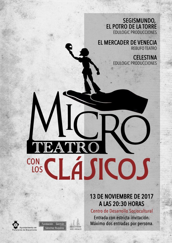 Centro de Desarrollo Sociocultural Microteatro con los clásicos Peñaranda de Bracamonte Noviembre 2017