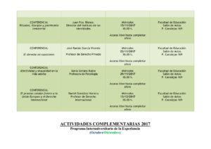 Programa Interuniversitario de la Experiencia Noviembre diciembre 2017