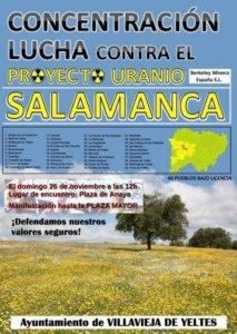 Salamanca Lucha contra el Proyecto Uranio Noviembre 2017