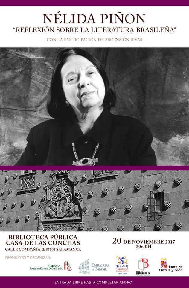 Casa de las Conchas Nélida Piñón Reflexión sobre la Literatura Brasileña Salamanca Noviembre 2017