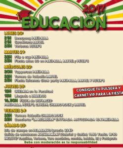Fiestas de Educación Salamanca Noviembre 2017