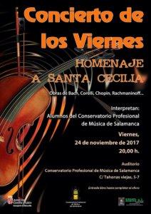 Conservatorio Profesional de Música de Salamanca Homenaje a Santa Cecilia Noviembre 2017