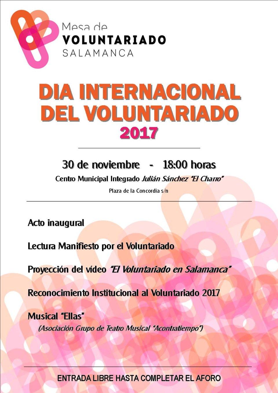 Julián Sánchez El Charro Día Internacional del Voluntariado Salamanca Noviembre 2017
