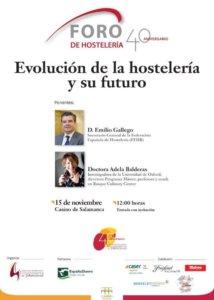 Casino de Salamanca Evolucion de la hostelería y su futuro Noviembre 2017