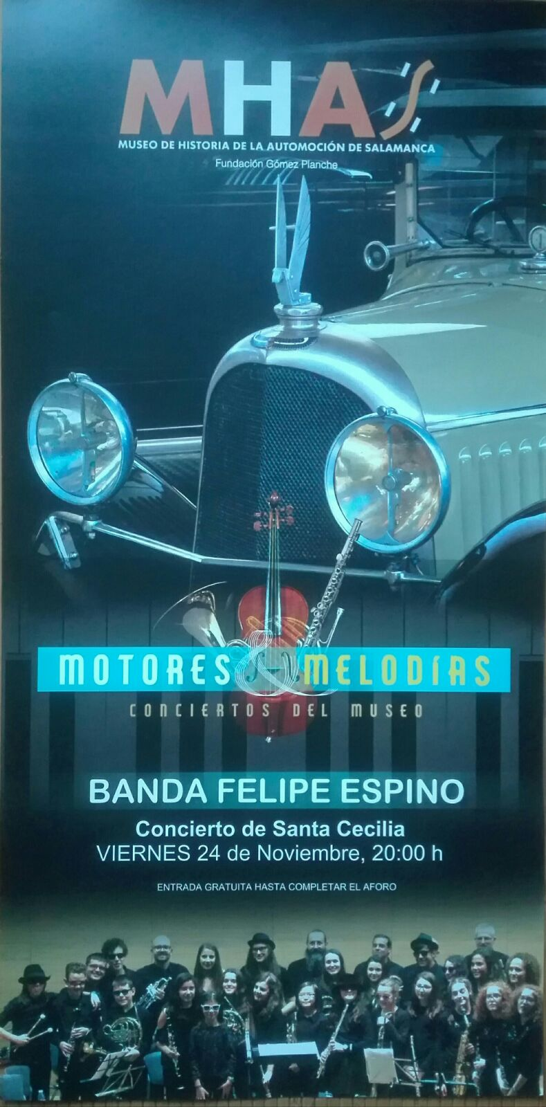 Museo de Historia de la Automoción de Salamanca MHAS Banda Felipe Espino Noviembre 2017