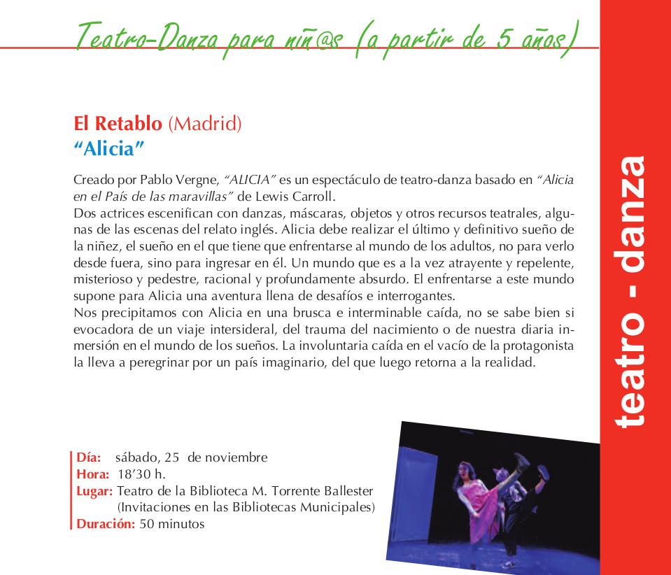 Torrente Ballester El Retablo Alicia Salamanca Noviembre 2017