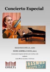 Conservatorio Superior de Música de Castilla y León Giulia Buccarella y Maria Gabriella Bassi Noviembre 2017