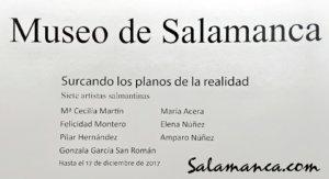 Museo de Salamanca Surcando los planos de la realidad Noviembre diciembre 2017