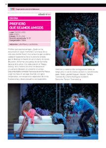 Teatro Liceo Prefiero que seamos amigos Salamanca Noviembre 2017
