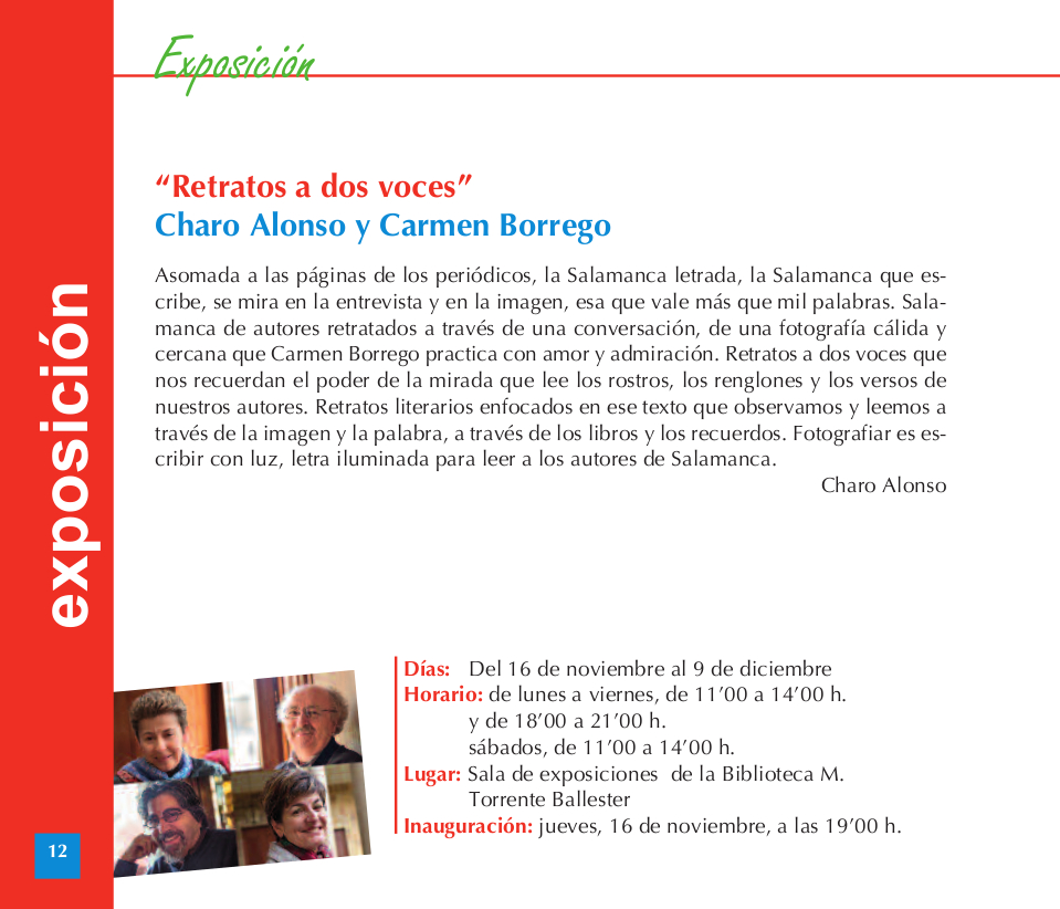 Torrente Ballester Charo Alonso y Carmen Borrego Retrato a dos voces Noviembre diciembre 2017