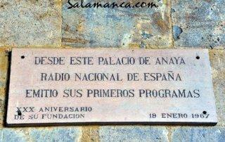 Radio Nacional de España nació en Salamanca