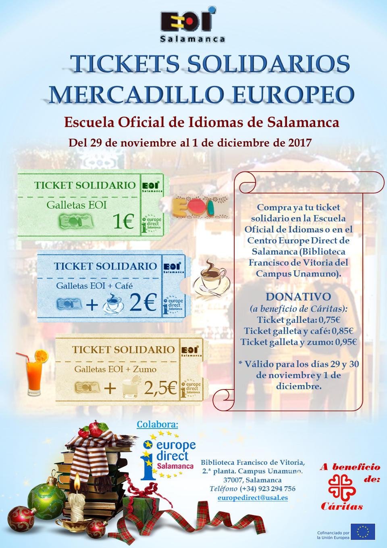 Escuela Oficial de Idiomas Galletas Solidarias Mercadillo Solidario Europeo 2017