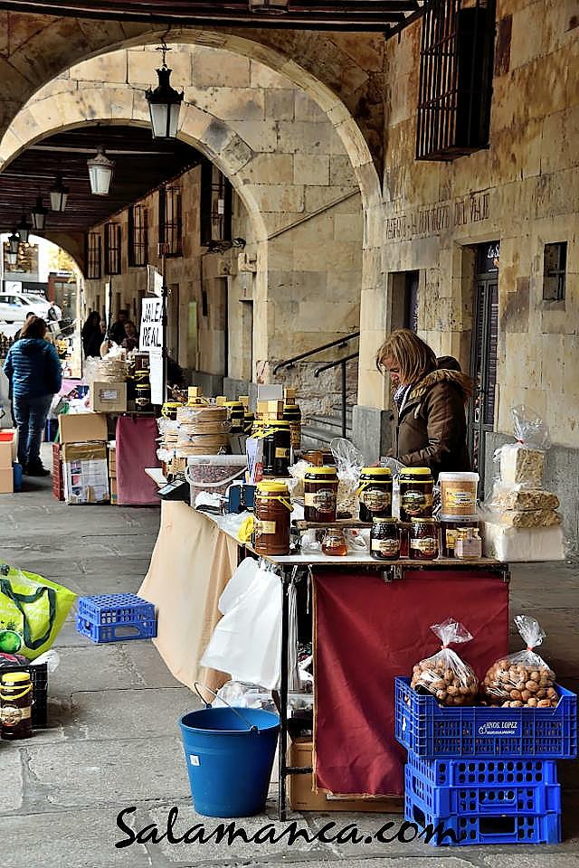 Plaza Mayor Turroneras Albercanas Salamanca Noviembre diciembre