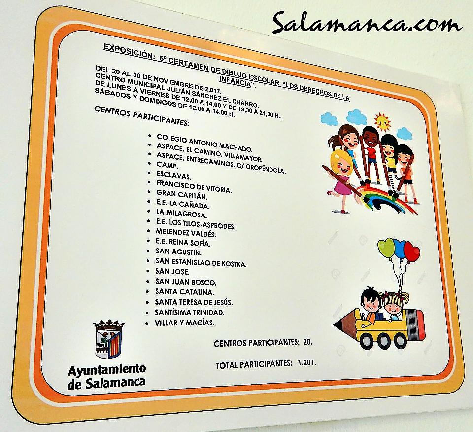 Julián Sánchez El Charro V Certamen de Dibujo Escolar Los Derechos de la Infancia Noviembre 2017