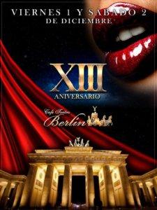 Café Berlín XIII Aniversario Diciembre 2017