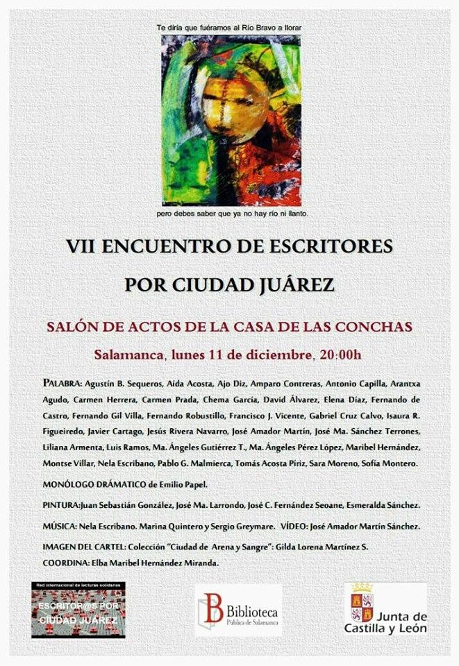 Casa de las Conchas VII Encuentro de Escritores por Ciudad Juarez Salamanca Diciembre 2017