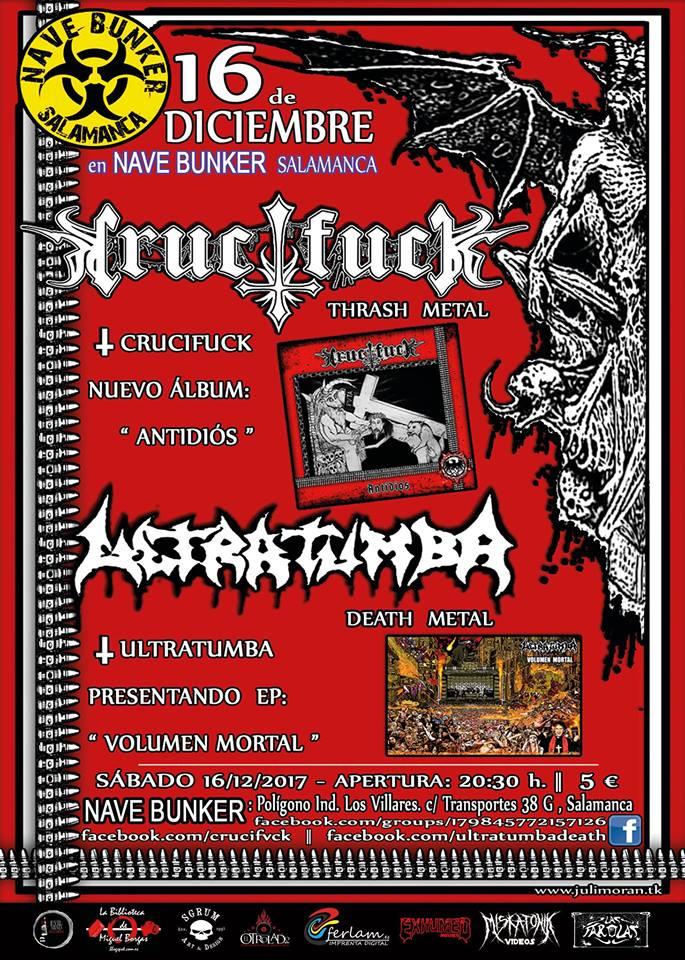 Nave Bunker Crucifuck + Ultratumba Villares Diciembre 2017