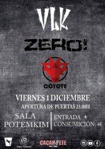 Potemkim Vlk + Zero! + Coyote Salamanca Diciembre 2017