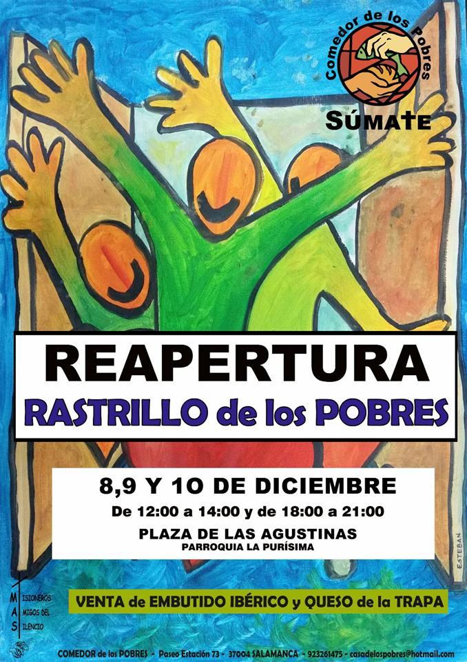 Plaza de las Agustinas Rastrillo de los Pobres Salamanca Navidad 2017