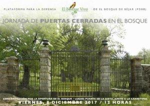 Béjar Concentración por la Apertura de El Bosque Diciembre 2017