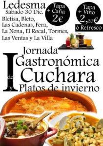 Ledesma I Jornada Gastronómica de Cuchara y Platos de Invierno Diciembre 2017