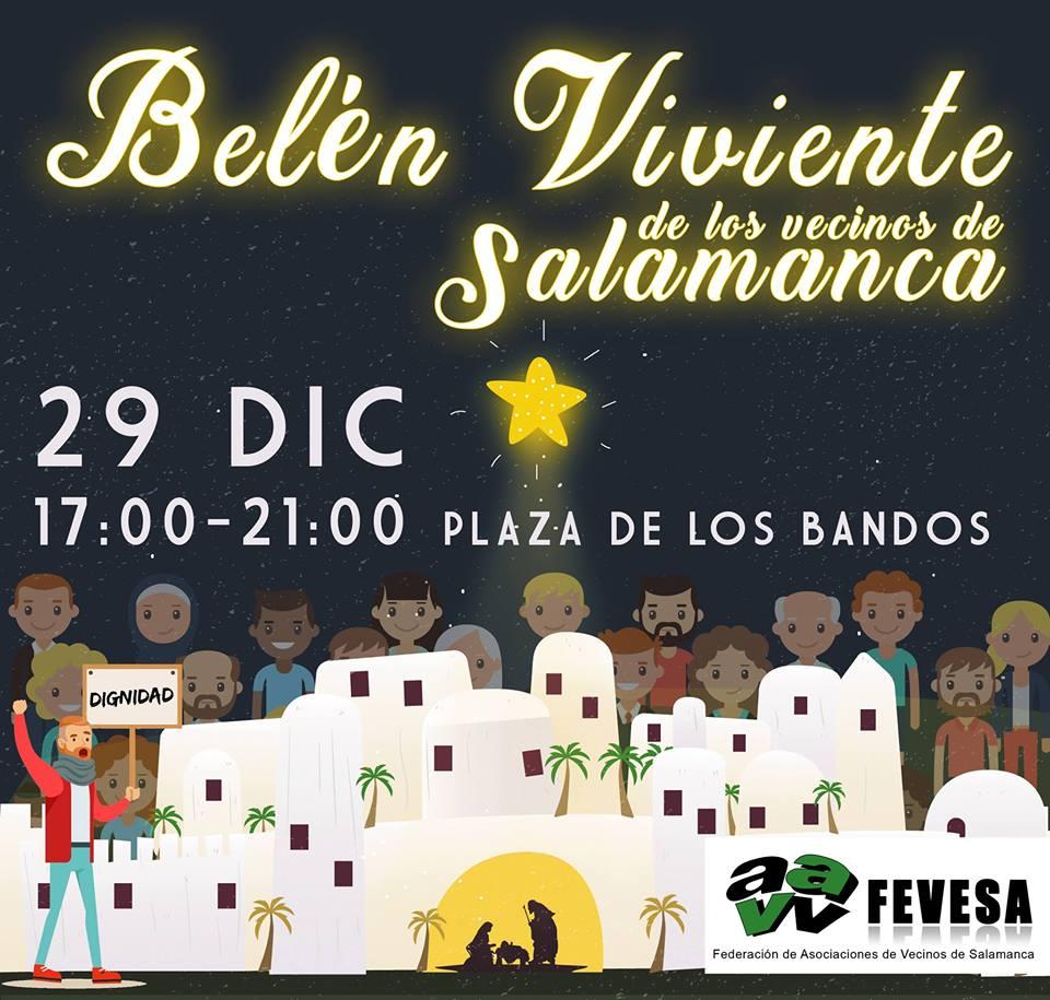 Plaza del Oeste Belen Viviente de los Vecinos de Salamanca Diciembre 2017