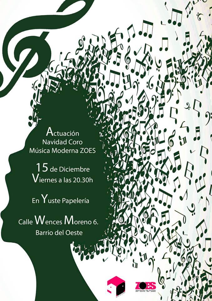 Yuste Papelería Coro ZOES Salamanca Diciembre 2017