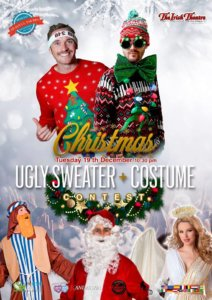 The Irish Theatre Christmas Ugly Sweater + Custome Contest Salamanca Diciembre 2017