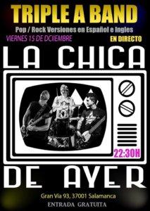 La Chica de Ayer Triple a Band Salamanca Diciembre 2017