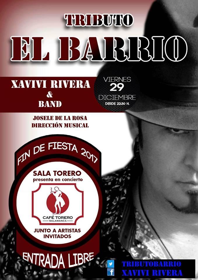 Sala Torero Xavivi Rivera & Band Salamanca Diciembre 2017