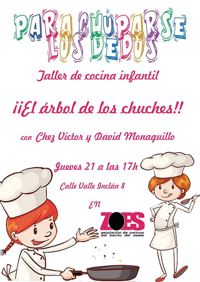 Asociación de Vecinos Barrio del Oeste ZOES Taller de Cocina Infantil Salamanca Diciembre 2017