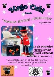 Sala Micenas Adarsa Mago Oski Magia entre juguetes Salamanca Diciembre 2017