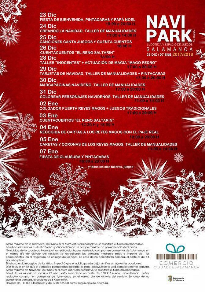 Programa La Alamedilla <em>Navipark</em> Diciembre 2017 Enero 2018