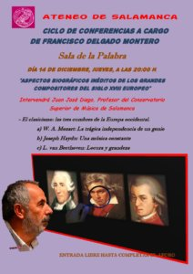 Teatro Liceo Francisco Delgado Montero El Clasicismo: las tres cumbres de la Europa occidental Ateneo de Salamanca Diciembre 2017
