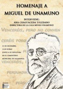 San Carlos Borromeo Homenaje a Miguel de Unamuno Salamanca Diciembre 2017