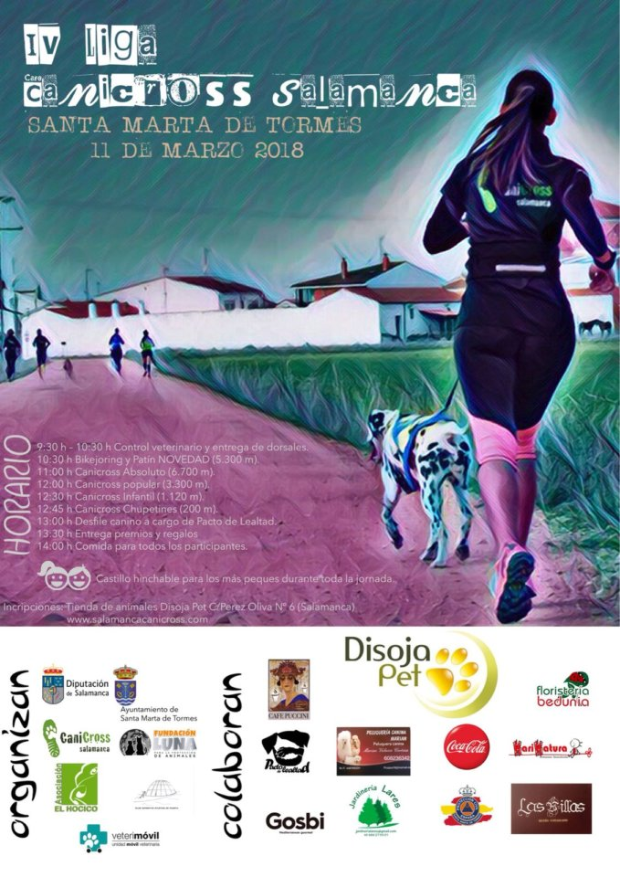 Santa Marta de Tormes Canicross IV Liga Provincial de Canicross Salamanca Marzo 2018
