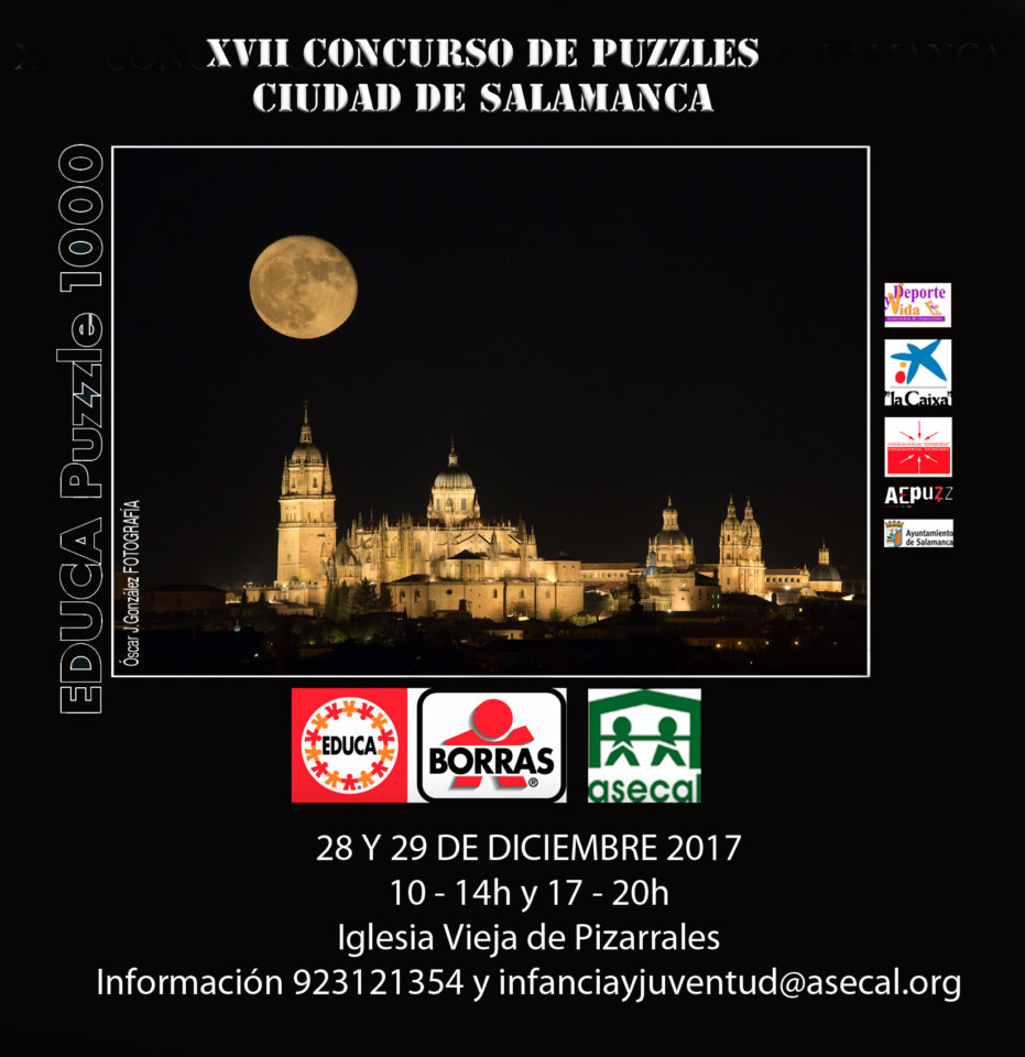 Asecal XVII Concurso Nacional de Puzzles Ciudad de Salamanca Diciembre 2017