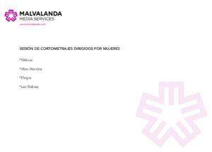 Cines Van Dyck Sesión de Cortometrajes Dirigidos por Mujeres Salamanca Diciembre 2017
