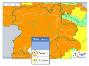 La alerta meterológica para la provincia de Salamanca es naranja