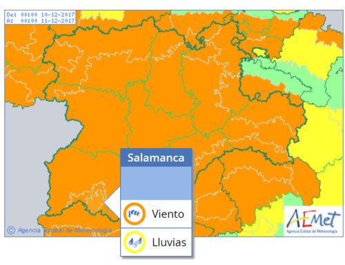 La alerta meterológica para la provincia de Salamanca es naranja.
