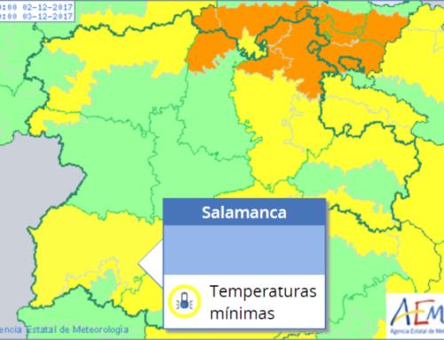 Salamanca espera una fin de semana de alertas amarillas y temperaturas mínimas.