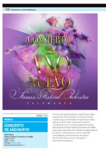 Centro de las Artes Escénicas y de la Música CAEM Concierto de Año Nuevo Salamanca Enero 2018