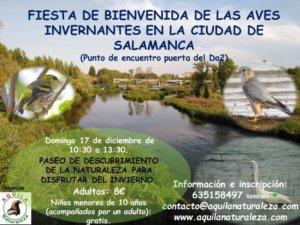 Fiesta de Bienvenida de las Aves Invernantes en la Ciudad de Salamanca Aquila Naturaleza Diciembre 2017