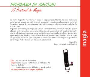 Torrente Ballester XI Festival de Magia Salamanca Diciembre 2017