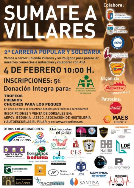 Villares de la Reina II Carrera Popular Solidaria Súmate a Villares Febrero 2018