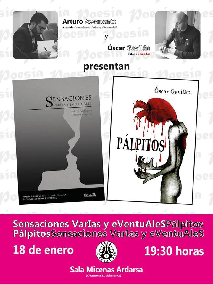 Sala Micenas Adarsa Pálpitos y Sensaciones VarIas Salamanca Enero 2018