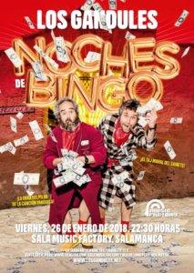 Music Factory Los Gandules Noches de bingo Salamanca Enero 2018