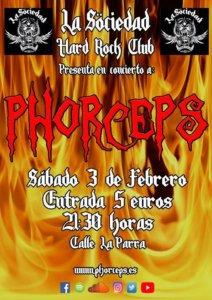 La Sociedad Hard Rock Club Phorceps Salamanca Febrero 2018